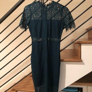 New Green Lulus Lace Illusion Dress Size XS